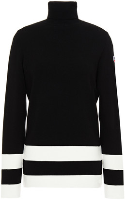 Fusalp Striped Knitted Turtleneck Sweater