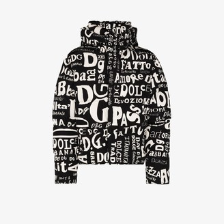 Dolce & Gabbana Padded Shell Logo Puffer Jacket