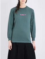 Obey Salvage cotton-jersey top
