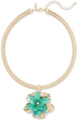 New York & Co. Floral Collar Pendant Necklace