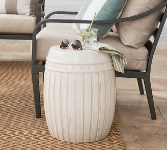 Pottery Barn Reeded Ceramic Side Table