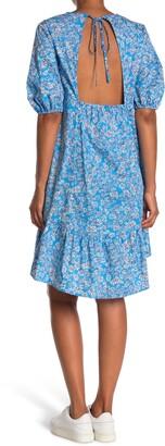 Topshop Floral Open Back Dress