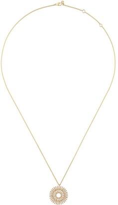 Astley Clarke 14kt gold large 'Rising Sun' diamond pendant necklace