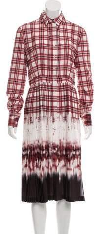 Altuzarra Plaid Dip-Dye Shirt Dress w/ Tags