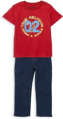 True Religion Little Boy's 2-Piece Logo Tee & Jeans Set