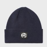 Paul Smith Men's Navy Merino Wool Beanie Hat