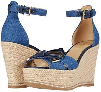 MICHAEL Michael Kors Ripley Wedge (Light Denim) Women's Shoes