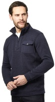 Maine New England Big And Tall Navy Pocket Funnel Neck Sweater