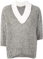 Sacai chunky knit v-neck sweater