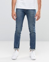 United Colors Of Benetton Light Wash Jeans In Skinny Fit