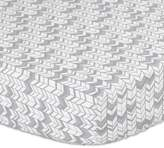 The Peanut Shell Herringbone Fitted Crib Sheet in Silver