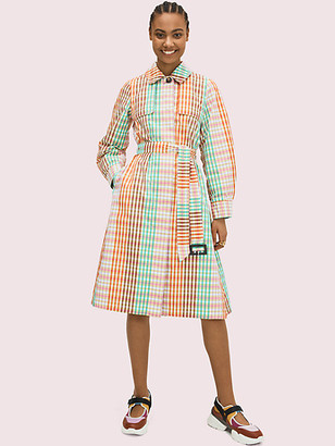 Kate Spade Rainbow Plaid Trench