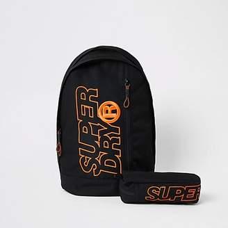 River Island Superdry black Freshman backpack