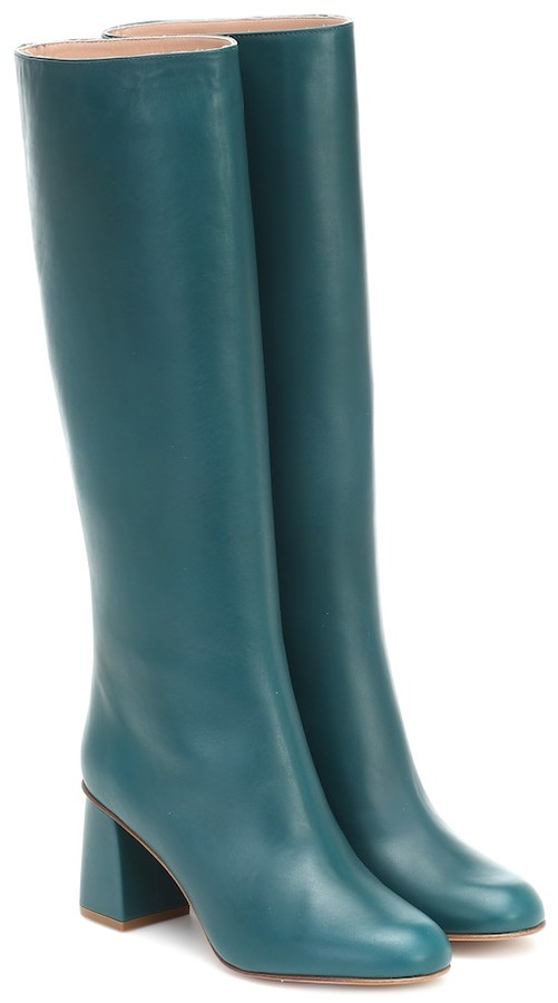 Teal Leather Boots | Shop the world's