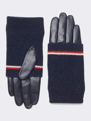 Tommy Hilfiger Pure Leather Long Cuff Gloves