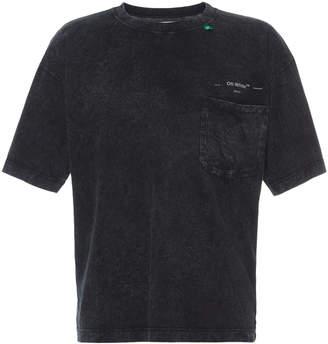 Off-White Off White C/O Virgil Abloh Cotton-Jersey Pocket T-Shirt