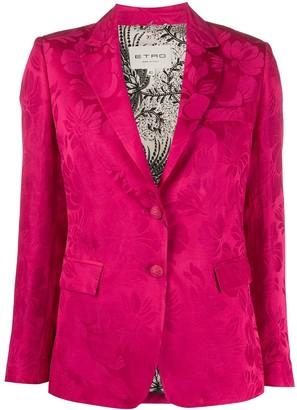 Etro Long Sleeve Floral Print Blazer