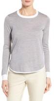 Nordstrom Women's Merino Wool Curved Hem Pullover