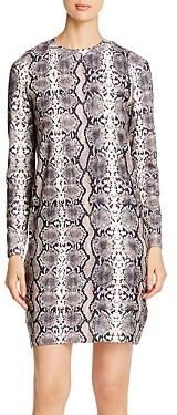 Vero Moda Snakeskin Pattern Sweater Dress