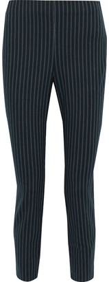Rag & Bone Simone Cropped Pinstriped Cotton-blend Slim-leg Pants
