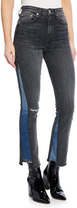 Rag & Bone Nina High-Rise Ankle Cigarette Repair Jeans