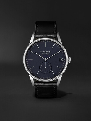 Nomos Glashütte Orion Neomatik Datum Automatic 41mm Stainless Steel And Cordovan Leather Watch, Ref. No. 363