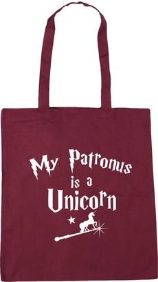 HippoWarehouse My Patronus Is A Unicorn Tote Shopping Gym Beach Bag 42cm x38cm 10 litres