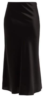 Galvan Valetta Satin Midi Skirt - Black