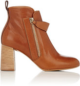 Chloé Women's Leather Double-Zip Boots-BROWN