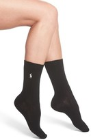 Ralph Lauren Women's Texture Rib Boot Socks