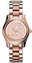 Michael Kors Women's Mini Runway Rose Gold-tone Stainless Steel Bracelet Watch 33mm Mk3334