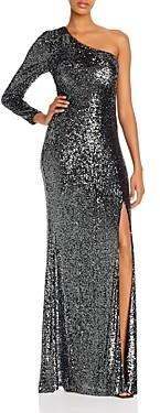 Aqua One-Shoulder Sequined Gown - 100% Exclusive