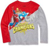 Marvel Long Sleeve Crew Neck T-Shirt-Preschool Boys