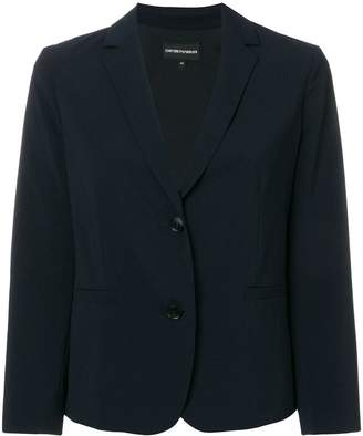 Emporio Armani cropped tailored blazer