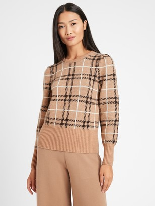 Banana Republic Petite Aire Puff-Sleeve Sweater
