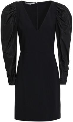 Stella McCartney Paneled Stretch-crepe And Taffeta Mini Dress