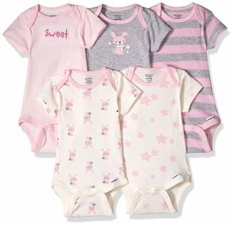 Gerber Baby 5-Pack Organic Short-Sleeve Onesies Bodysuit