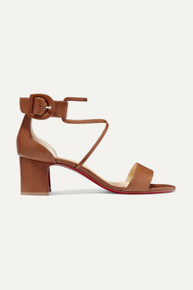 Christian Louboutin Choca 55 Leather Sandals - Tan