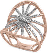 Effy Pavé Rose by Diamond Starburst Ring (5/8 ct. t.w.) in 14k Rose Gold