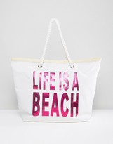 South Beach 'Life Is A Beach' Beach Bag