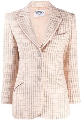 Chanel Pre Owned 2000's Checked Slim Blazer