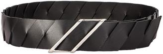 Bottega Veneta Belt in Black & Silver | FWRD