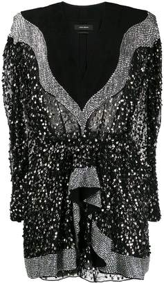 Isabel Marant sequin embellished mini dress