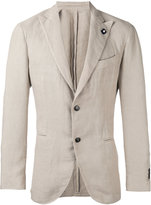 Lardini two-button suit - men - Hemp/Polyester - 46