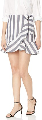 The Fifth Label Women's Sequence Striped Ruffle Mini Skirt