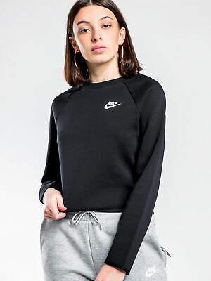 Nike New Nsw Tech Fleece Crew In Black Womens Sweaters & Jumpers