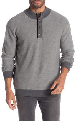 Raffi Elbow Patch Knit Mock Neck Sweater