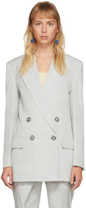Proenza Schouler Grey Double-Breasted Blazer