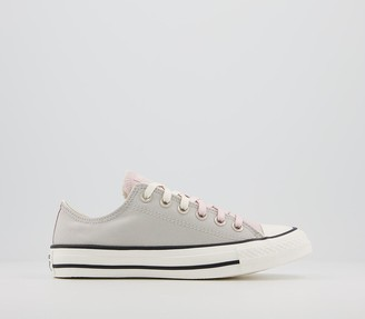 Converse All Star Low Trainers Mouse Egret Barely Rose Exclusive