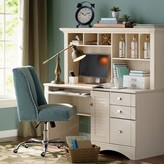 Beachcrest Home Pinellas Desk with Hutch Color: Antiqued White